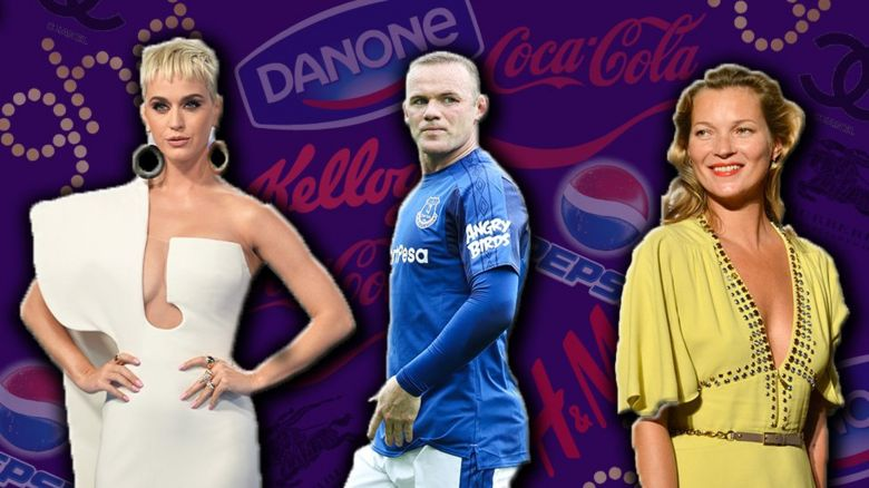 Katy Perry, Wayne Rooney, Kate Moss