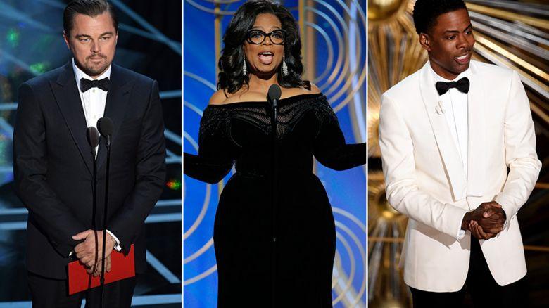 Leonardo Dicaprio, Oprah Winfrey, Chris Rock