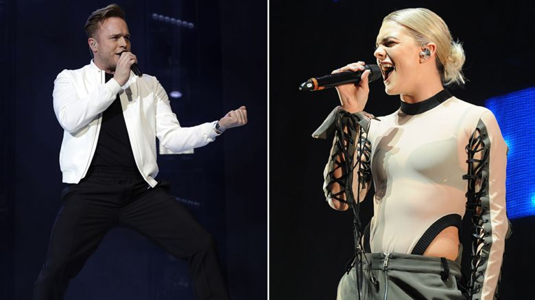 Olly Murs and Louisa Johnson