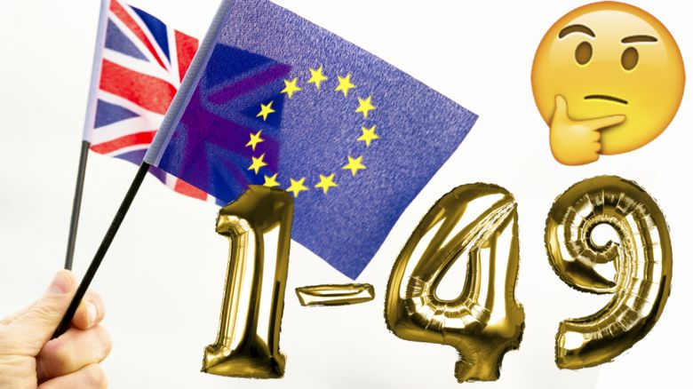 European flag and gold balloons