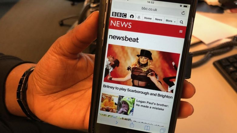 BBC Newsbeat shown on mobile