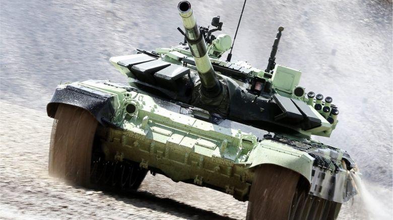 A speeding tank