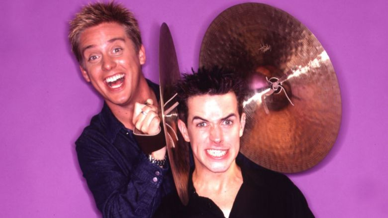Dick and Dom with cymbals