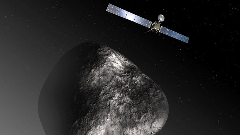 Artist impression of Rosetta and Comet 67P
