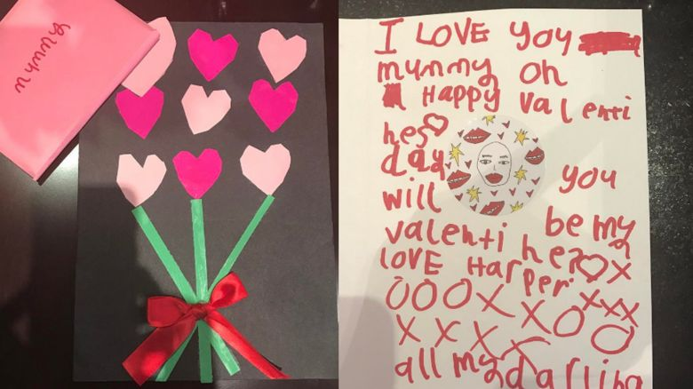 Victoria Beckham shares a Valentine's card from her daughter Harper
