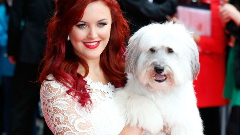 Pudsey the dog with owner Ashleigh Butler