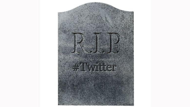 Twitter gravestone