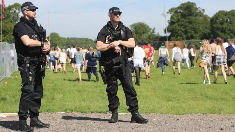 Police at Hull's Burton Constable Hall