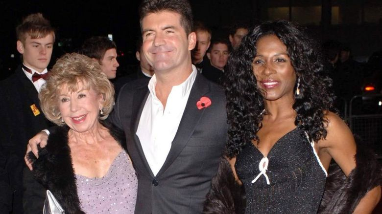Julie Cowell with Simon Cowell and Sinitta