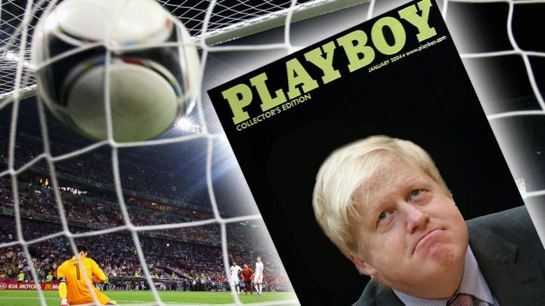 Boris Johnson, Playboy and a football