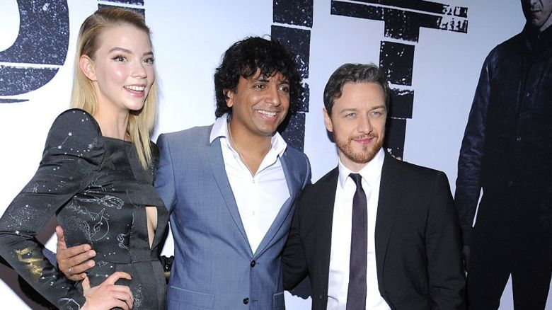 Anya Taylor-Joy, M Night Shyamalan and James McAvoy
