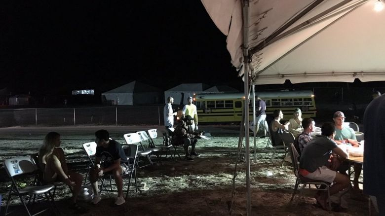 Food court at Fyre Festival