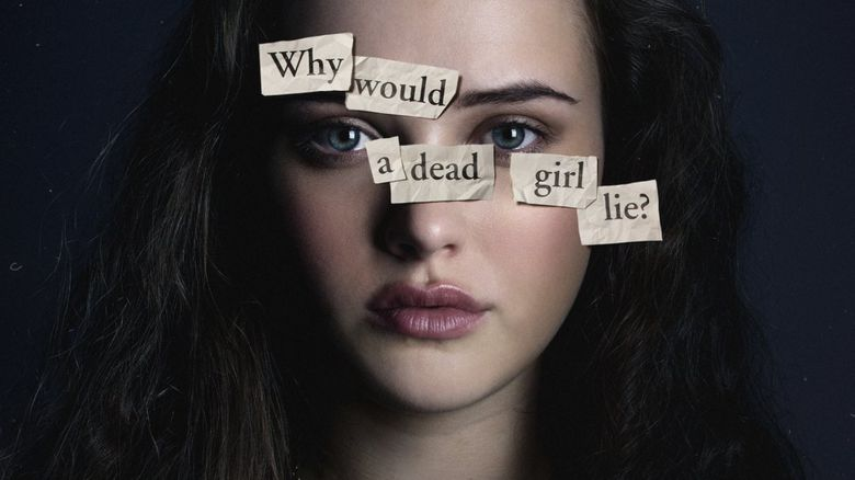 Katherine Langford is pictured in the role of protagonist Hannah Baker