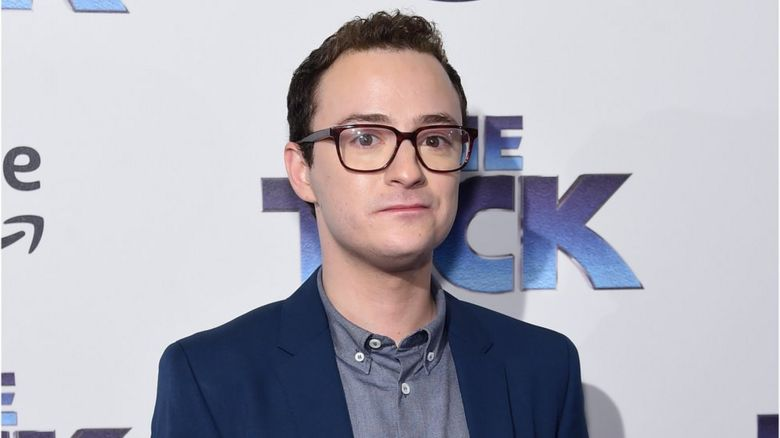 Griffin Newman promoting The Tick