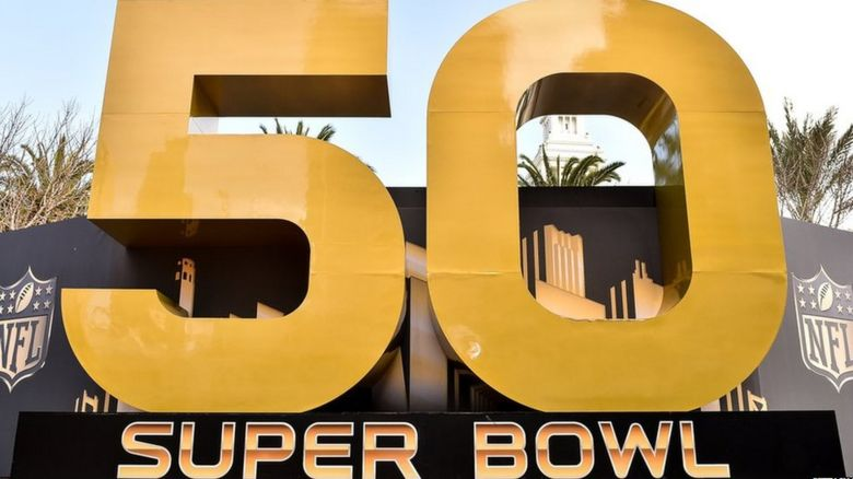 Superbowl 50 sign
