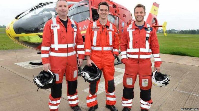 Ben Clark (left), Major David Cooper (middle) and Tom Waters