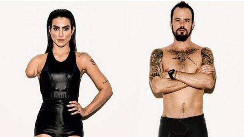 Actors Cleo Pires and Paulo Vilhena