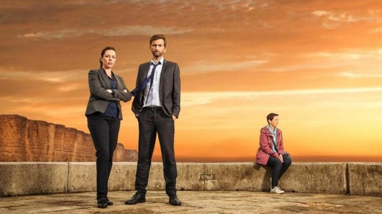 A promo shoot for Broadchurch