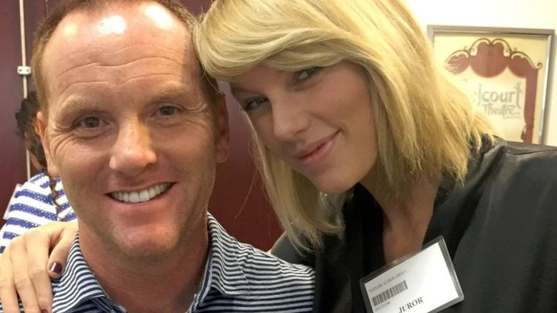 Taylor Swift posed with fellow potential jurors like Bryan Merville