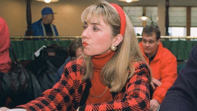 Hillary Clinton looking very 90s