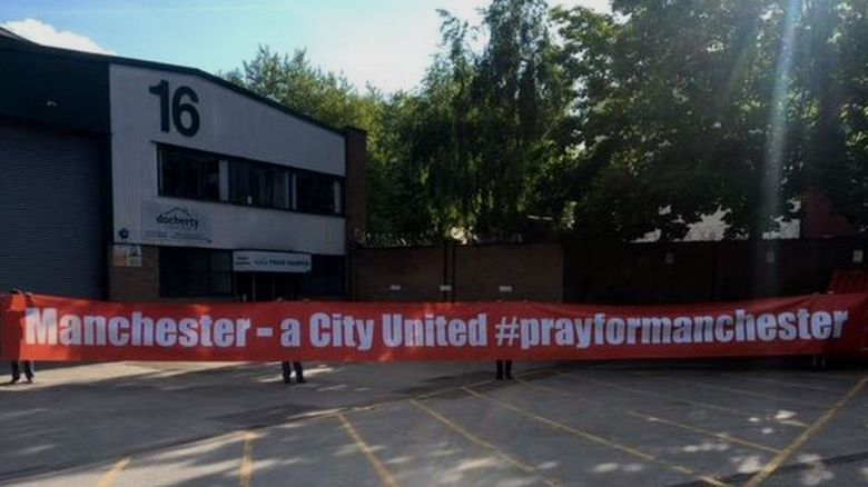 The banner to be displayed at the match