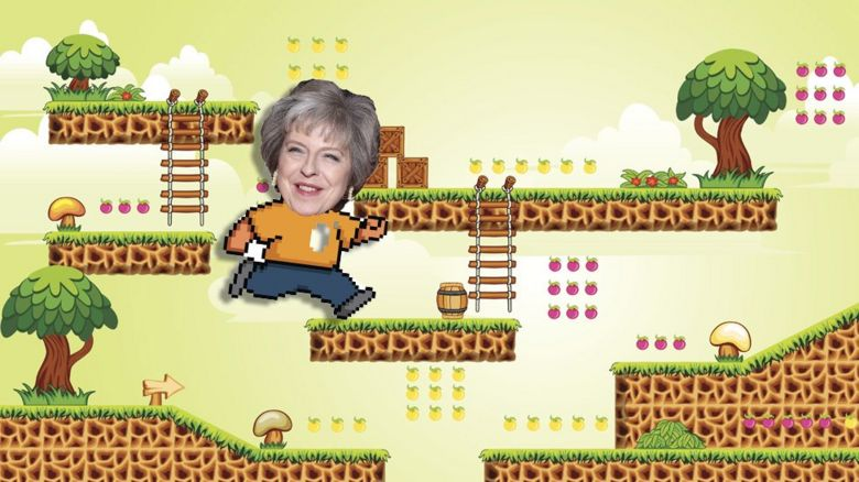 Theresa May as a computer game character