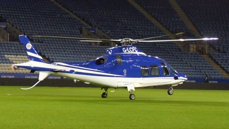 Leicester City's own helicopter