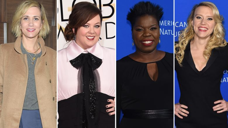 Kristen Wiig, Melissa McCarthy, Leslie Jones and Kate McKinnon