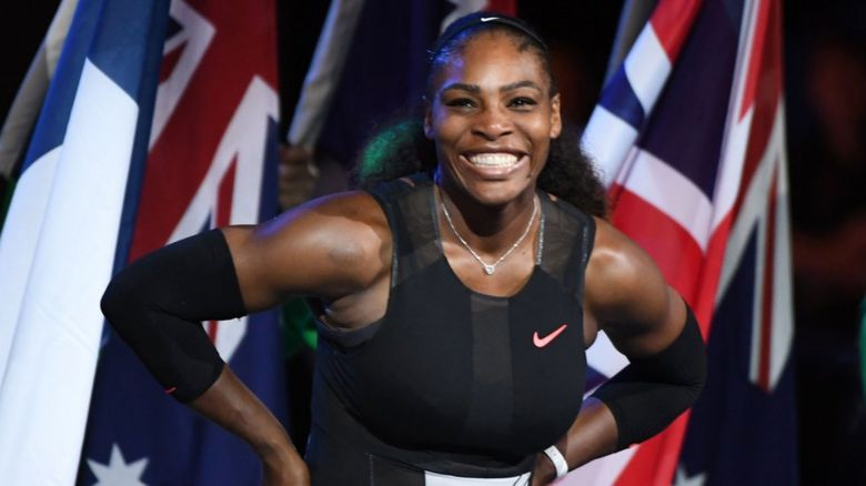 Serena Williams at the 2017 Australian Open