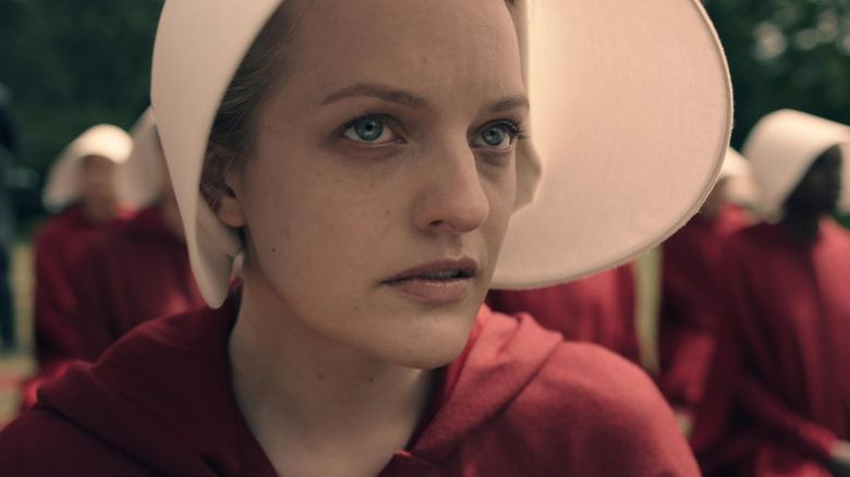 Elisabeth Moss in The Handmaid's Tale