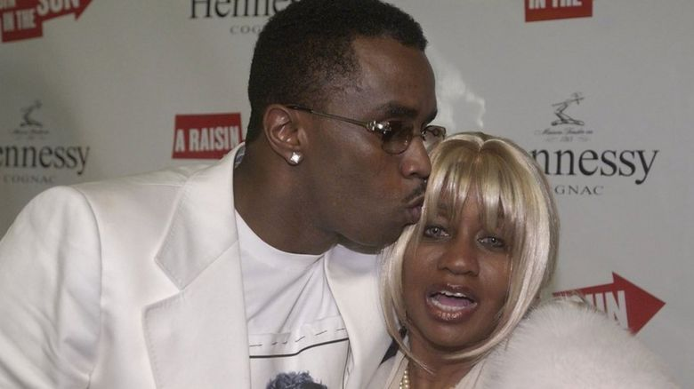 P Diddy and his mum Janice Combs