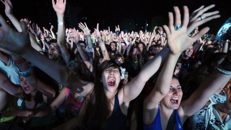 Music festival goers