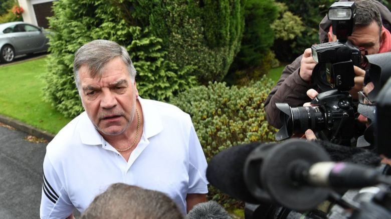 Sam Allardyce talking to the media