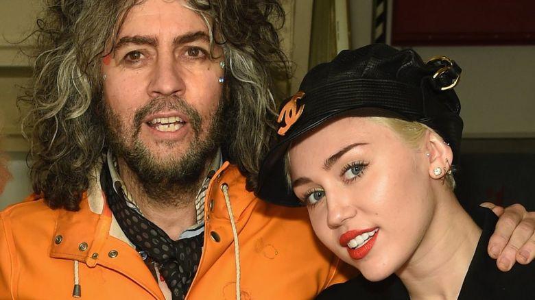 Wayne Coyne and Miley Cyrus