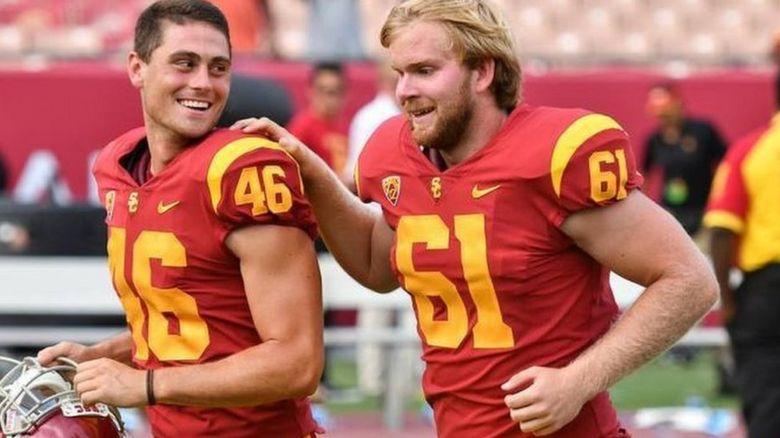Jake Olson wears the 61 jersey