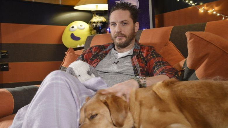 Tom Hardy and his dog
