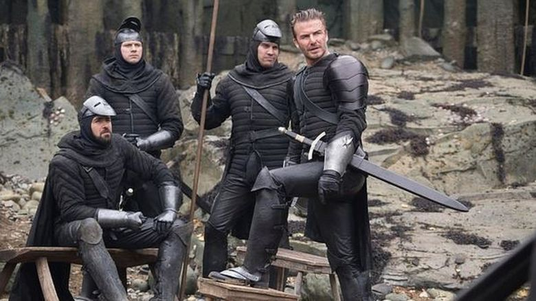 David Beckham on set of King Arthur