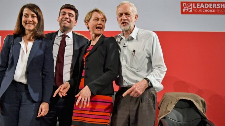 Labour leadership candidates (l-r): Liz Kendall, Andy Burnham, Yvette Cooper and Jeremy Corbyn