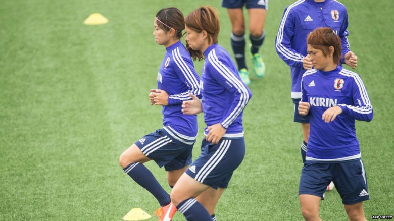 Japan team in training