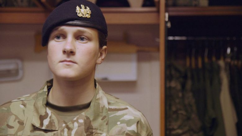 A British Army recruit
