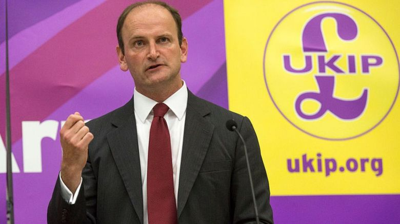 Douglas Carswell speaks at a UK Independence Party (UKIP) meeting