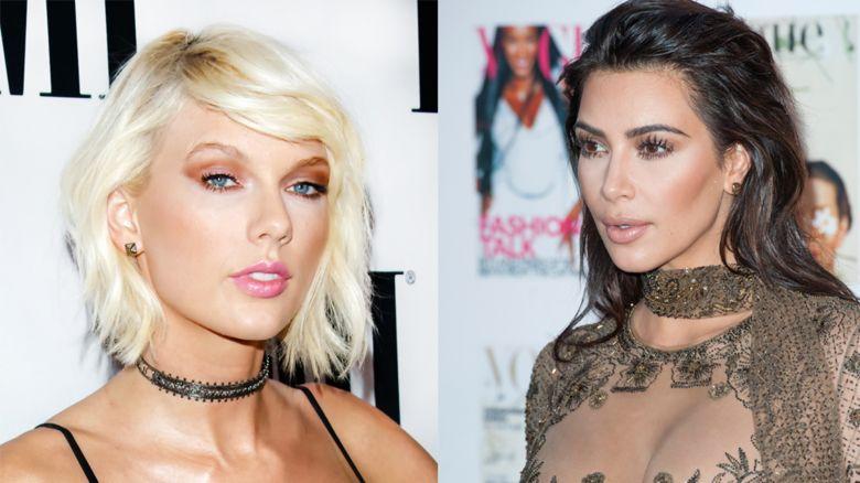 Taylor Swift and Kim Kardashian- West