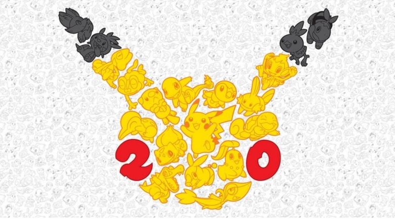 The logo for the 20th anniversary of Pokémon