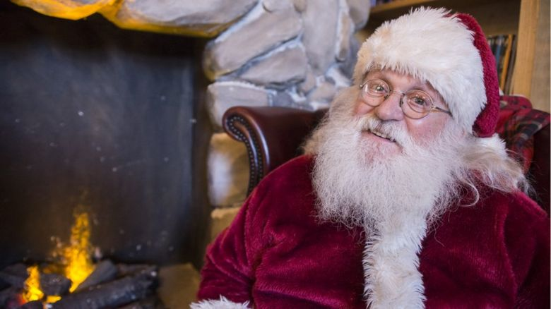 This is a photo of what many would consider to be the traditional Santa Claus.