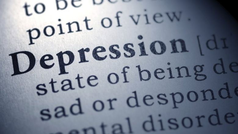 Picture saying 'Depression'