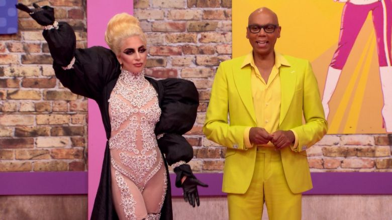 RuPaul and Lady Gaga