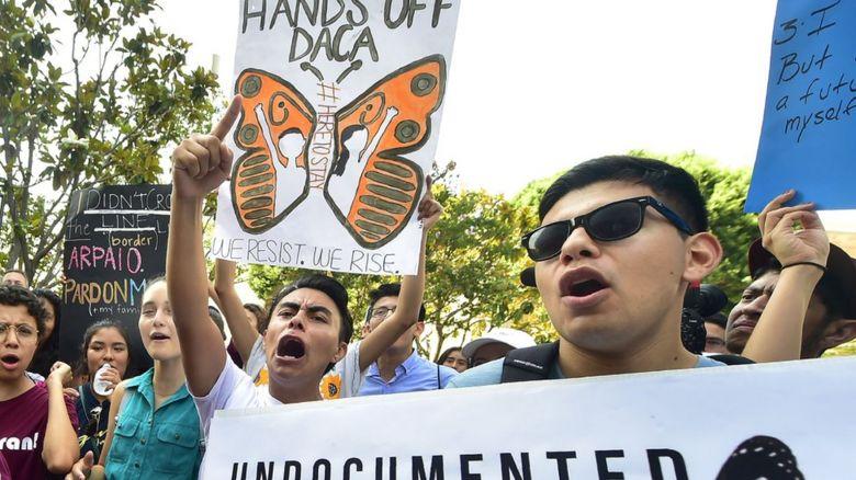 Immigration protestors