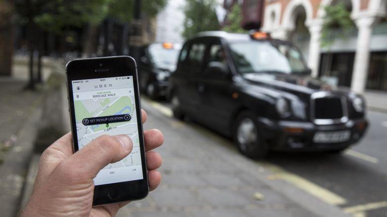 Using the Uber app