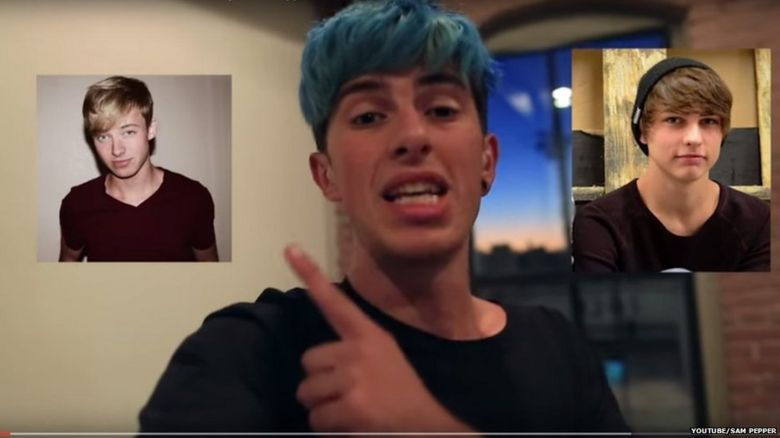 Image from Sam Pepper's YouTube video