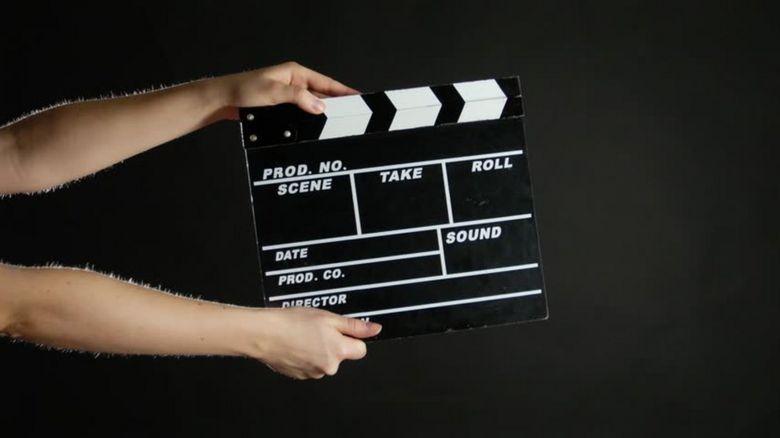 Movie clapperboard